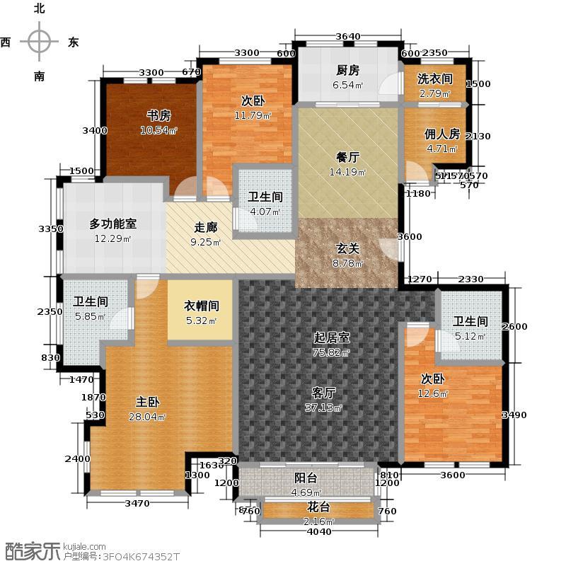 领秀・翡翠山231.00㎡C1户型4室3厅3卫