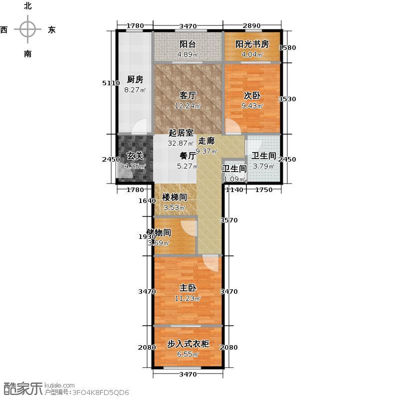 京汉铂寓(石景山)183.00㎡C2一层户型10室