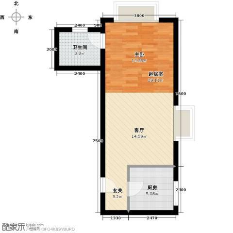 禧福汇国际社区54.00㎡户型图