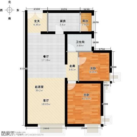 禧福汇国际社区102.00㎡户型图