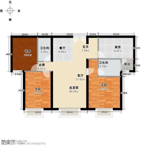禧福汇国际社区135.00㎡户型图