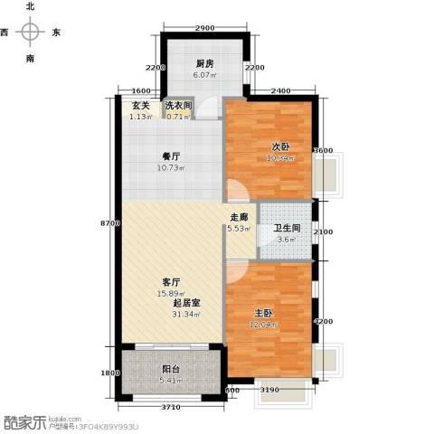 禧福汇国际社区96.00㎡户型图
