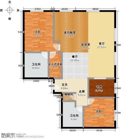 当代MOMA・历峰3室2厅2卫0厨180.00㎡户型图