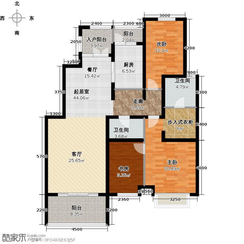 北京风景145.00㎡户型3室2厅2卫