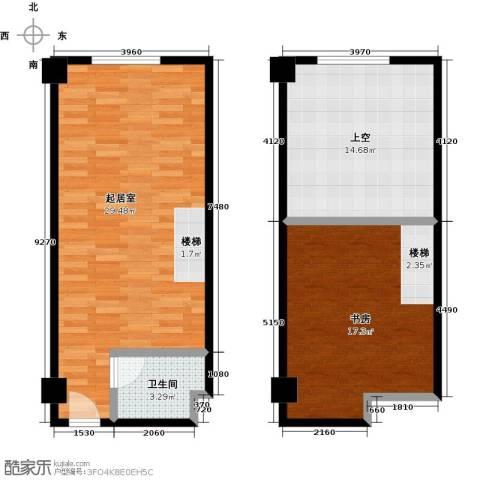 乐栋3001室1厅1卫0厨64.75㎡户型图