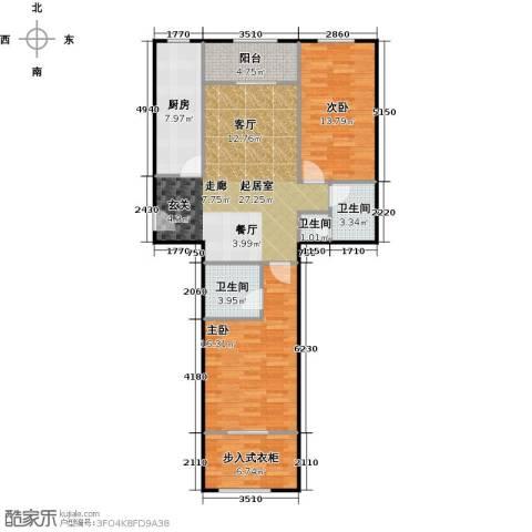 京汉铂寓(石景山)108.00㎡户型图