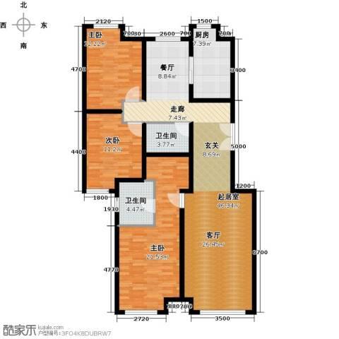 中海苏黎世家3室2厅2卫0厨130.00㎡户型图