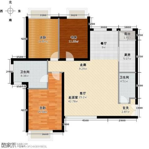 禧福汇国际社区142.00㎡户型图