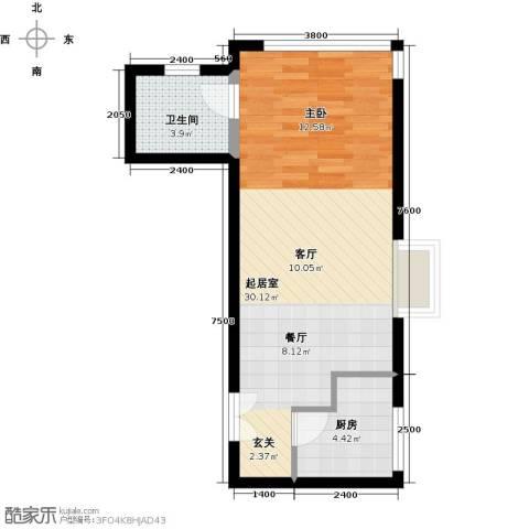 禧福汇国际社区52.00㎡户型图