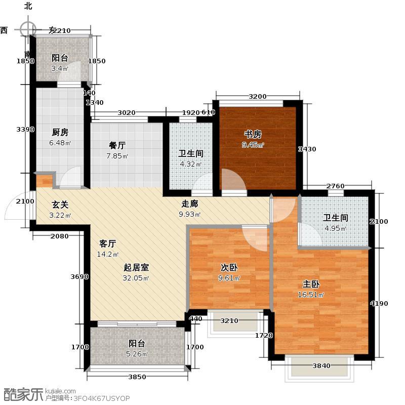 合景峰汇国际105.00㎡九期C户型2室2厅2卫