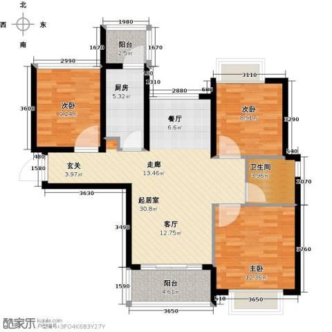 合景峰汇国际2室2厅1卫0厨89.00㎡户型图