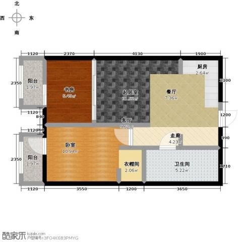 亿城西山公馆2室1厅1卫0厨69.00㎡户型图