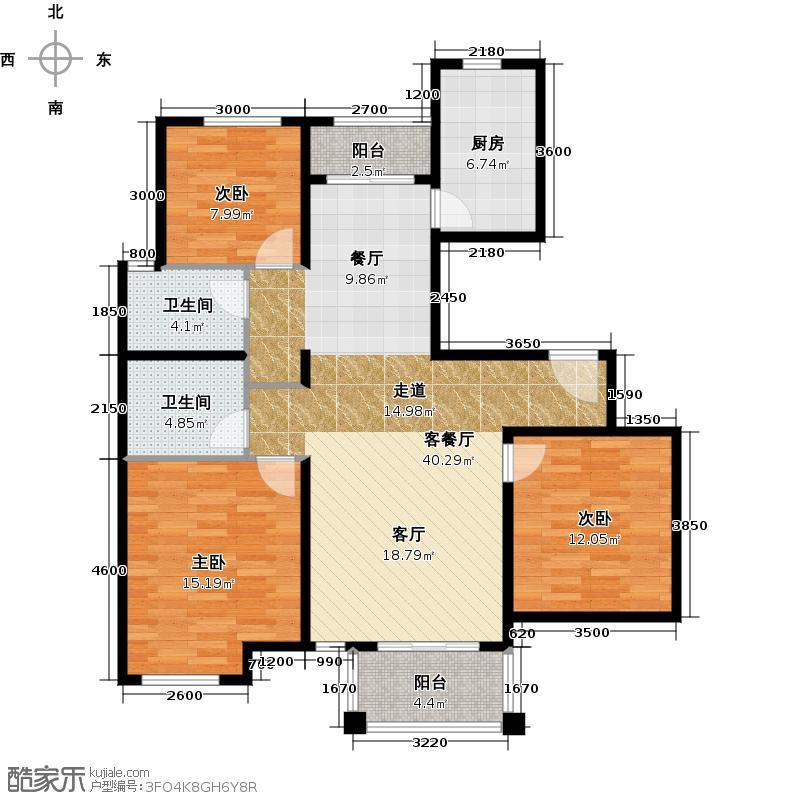绿城・百合公寓128.00㎡户型10室