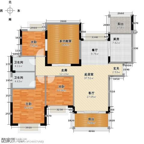 合景峰汇国际3室2厅2卫0厨130.00㎡户型图