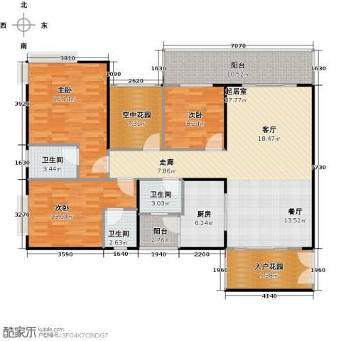 纯水岸3室2厅2卫0厨128.18㎡户型图