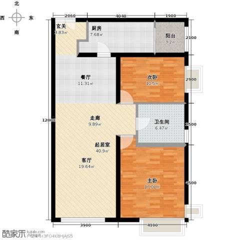 禧福汇国际社区107.00㎡户型图