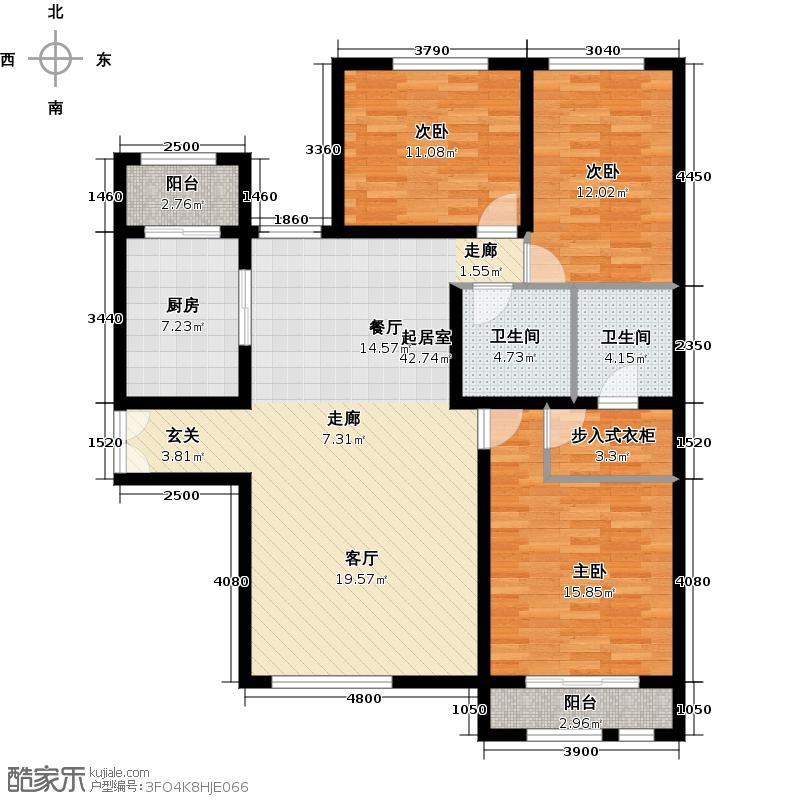 禧福汇国际社区158.00㎡R72-01户型10室