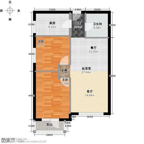 首开智慧社2室2厅1卫0厨85.00㎡户型图