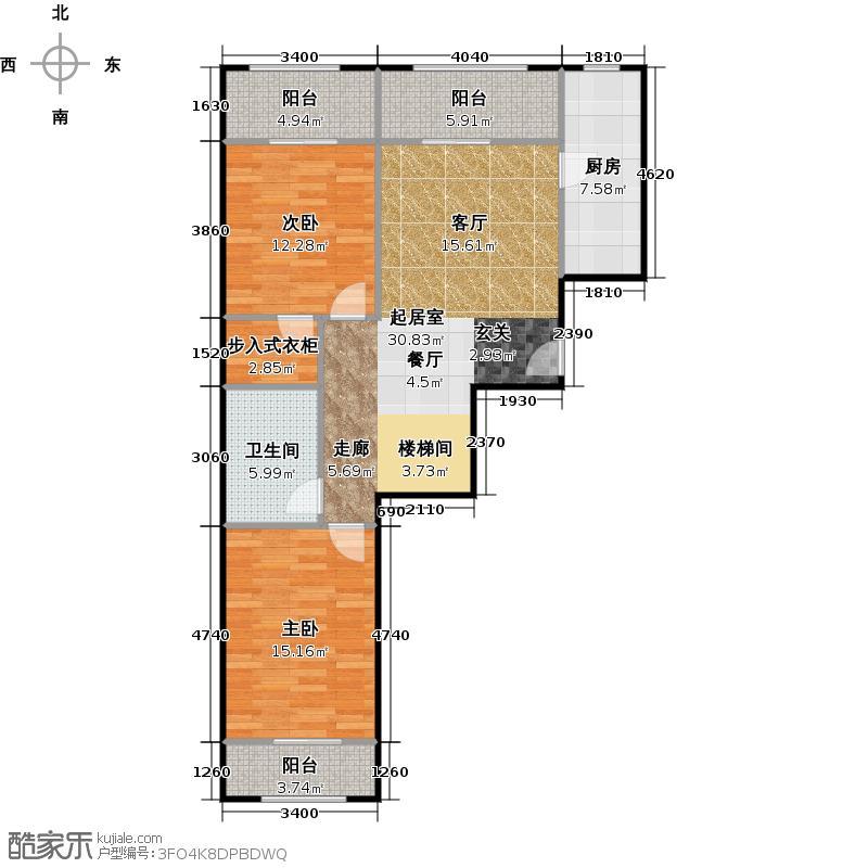 京汉铂寓(石景山)165.00㎡E2\\\'1层户型10室
