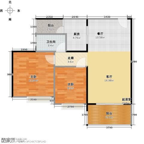 纯水岸2室2厅1卫0厨73.02㎡户型图