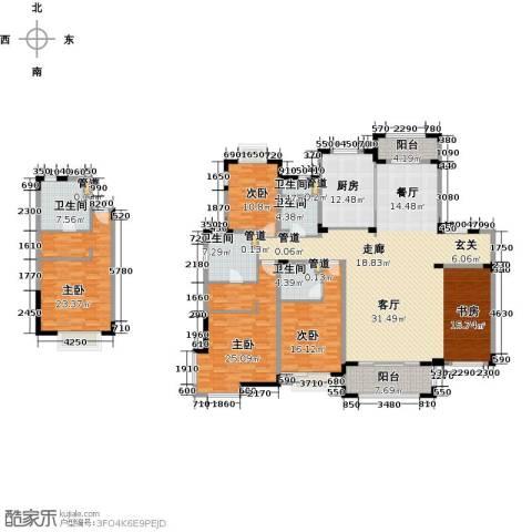 澜调国际4室2厅3卫0厨212.00㎡户型图