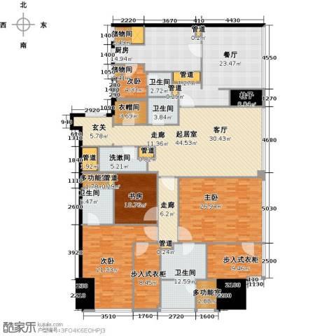 东方之门4室2厅4卫0厨257.00㎡户型图