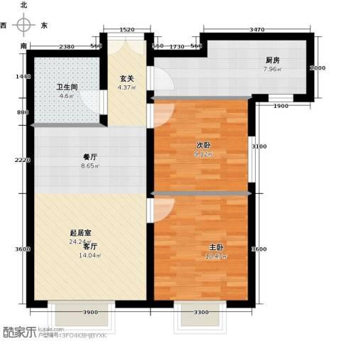 禧福汇国际社区86.00㎡户型图