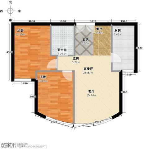 新华联运河湾2室2厅1卫0厨84.00㎡户型图