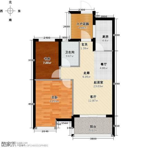 绿城之江1号2室2厅1卫0厨78.00㎡户型图