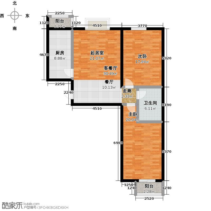 矩阵・天悦94.21㎡19号楼4单元两室户型10室