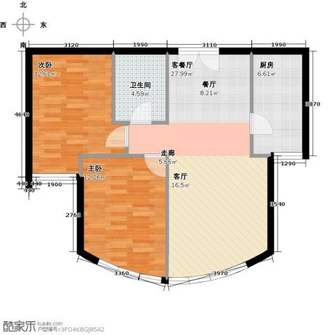 新华联运河湾84.00㎡户型图