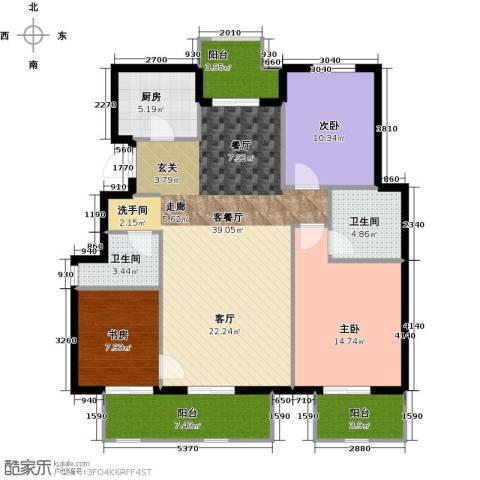 首开香溪郡3室2厅1卫0厨117.00㎡户型图