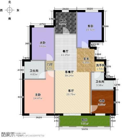 首开香溪郡4室2厅2卫0厨126.00㎡户型图