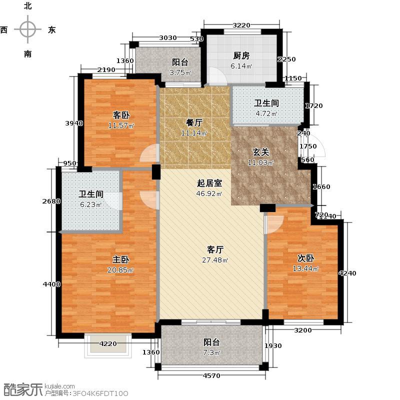 华润翠庭130.00㎡B01户型10室