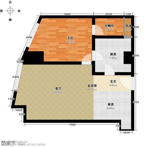 晓城天地1室1厅1卫0厨88.00㎡户型图