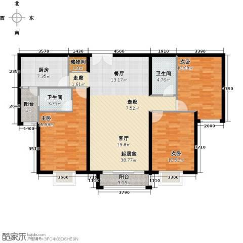 首城国际中心143.00㎡户型图