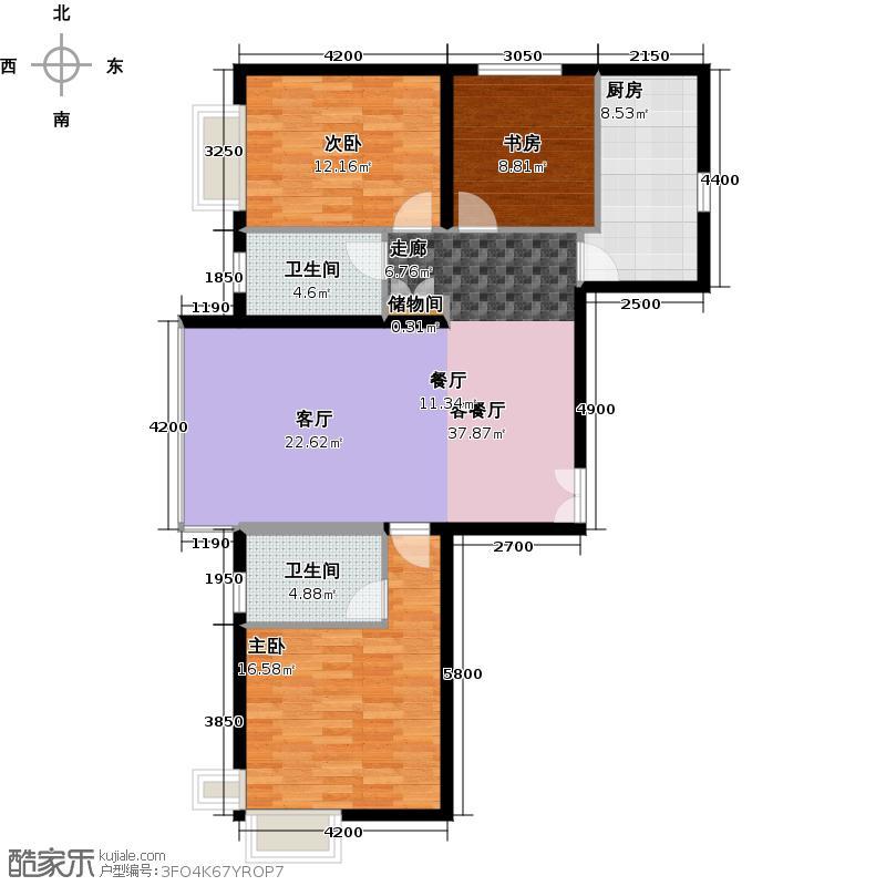 常楹公元133.00㎡C-1户型3室2厅2卫
