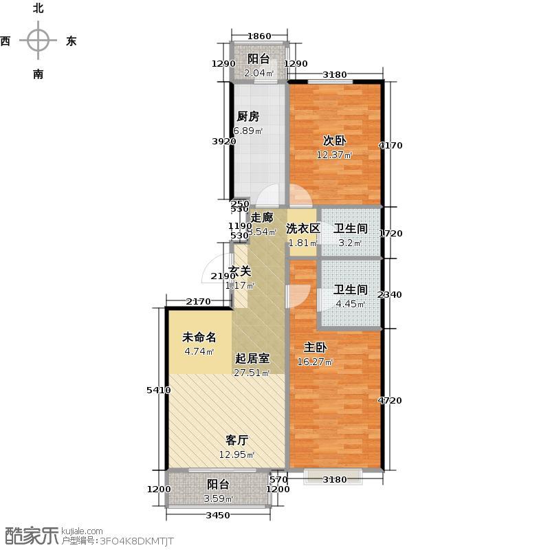 新通国际花园103.95㎡5-K2户型10室