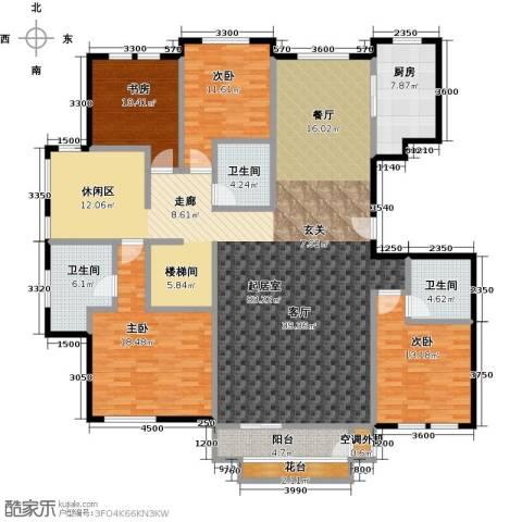 领秀・翡翠山4室3厅3卫0厨221.00㎡户型图