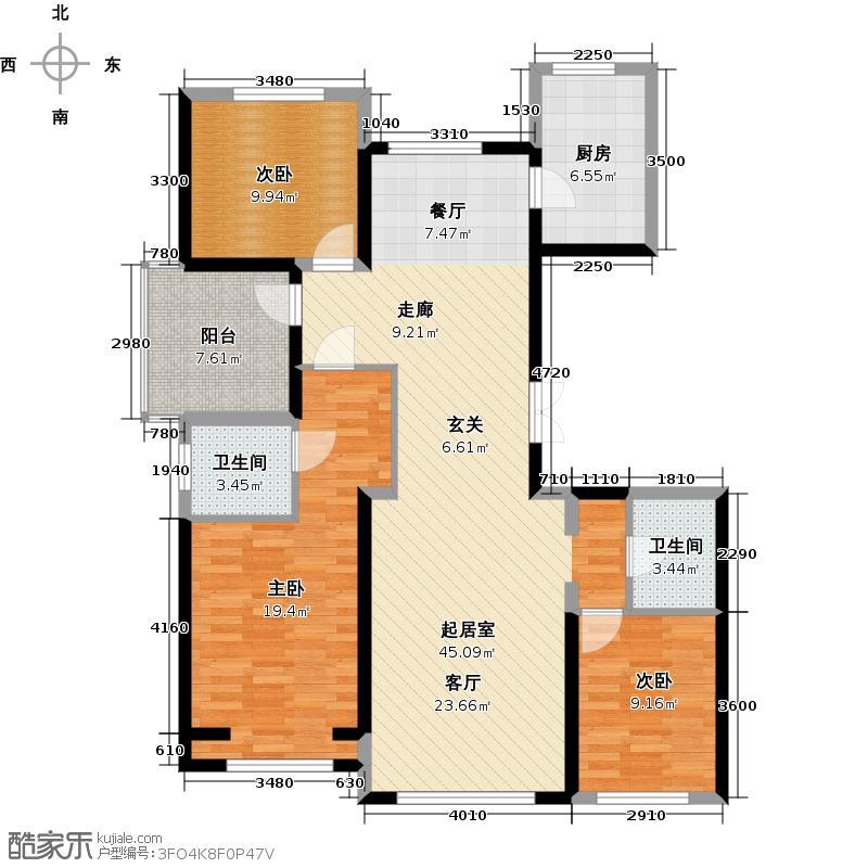 北京城建・上河湾118.44㎡户型10室