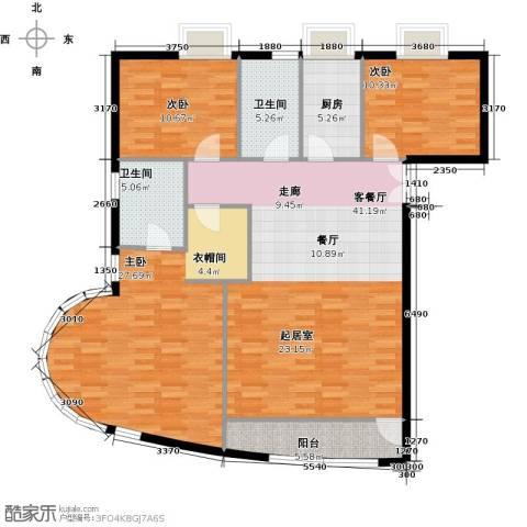 新华联运河湾152.00㎡户型图