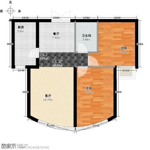 新华联运河湾2室2厅1卫0厨87.00㎡户型图