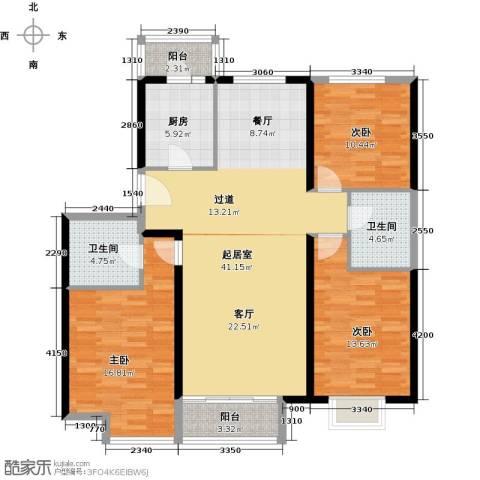 中国铁建绿港136.00㎡户型图