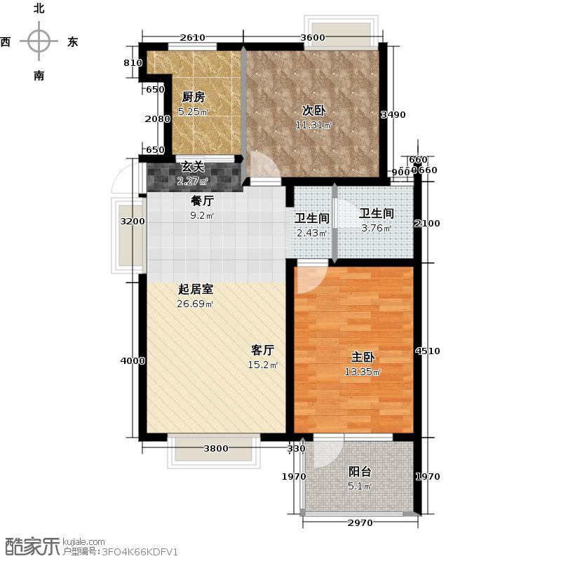 北京城建・琨廷73.09㎡C2奇数层户型10室