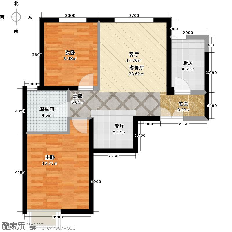 京贸国际城85.06㎡2号楼D3(已售完)户型10室