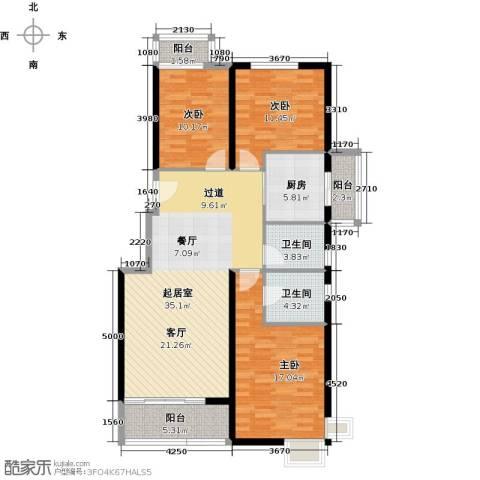中国铁建绿港132.00㎡户型图