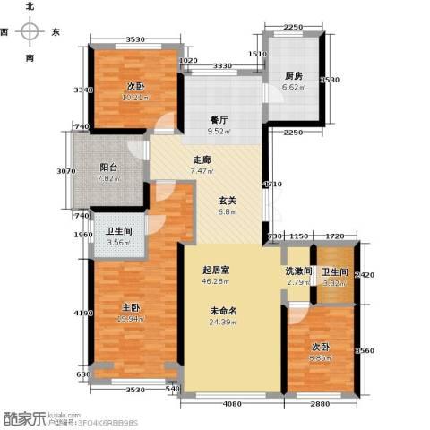 北京城建・上河湾151.00㎡户型图