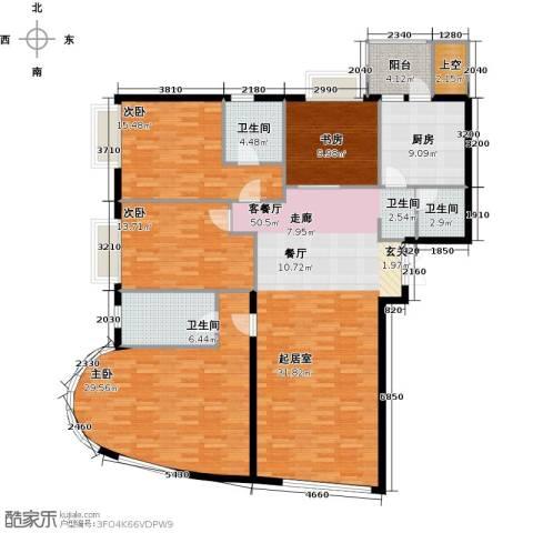 新华联运河湾4室2厅3卫0厨192.00㎡户型图