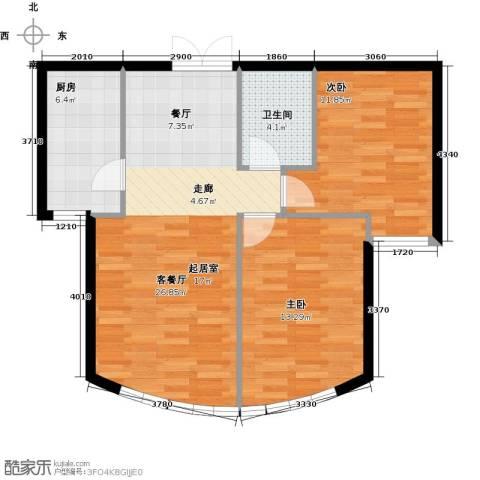 新华联运河湾86.00㎡户型图