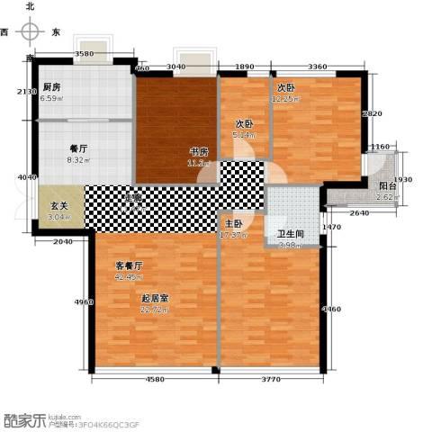 新华联运河湾3室2厅2卫0厨152.00㎡户型图